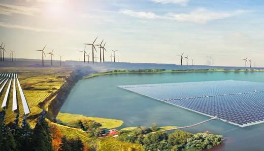 Greenpeace Energy | So könnte eine Nutzung der ehemaligen Tagebauflächen im Rheinischen Revier aussehen. Finanziert werden soll sie auch von Bürgerinnen und Bürgern - die Bereitschaft dazu ist laut Umfrage offenbar hoch.