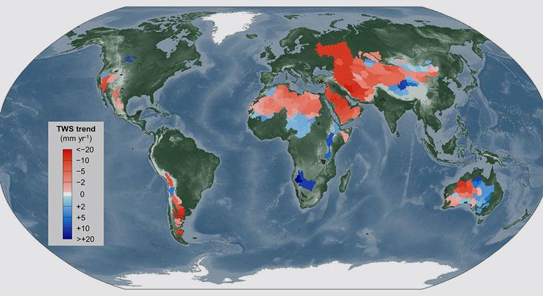 Kansas State University | Terrestrial water storage (TWS) changes in global endorheic basins