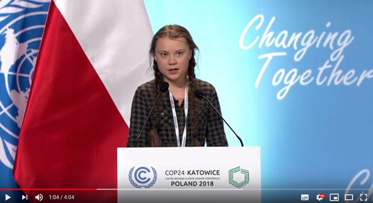 Klimaaktivistin Greta Thunberg verurteilt die weltweite Untätigkeit zum Klimawandel
