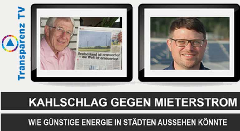 Transparenz TV – Franz Alt: Kahlschlag gegen preiswerten Mieterstrom