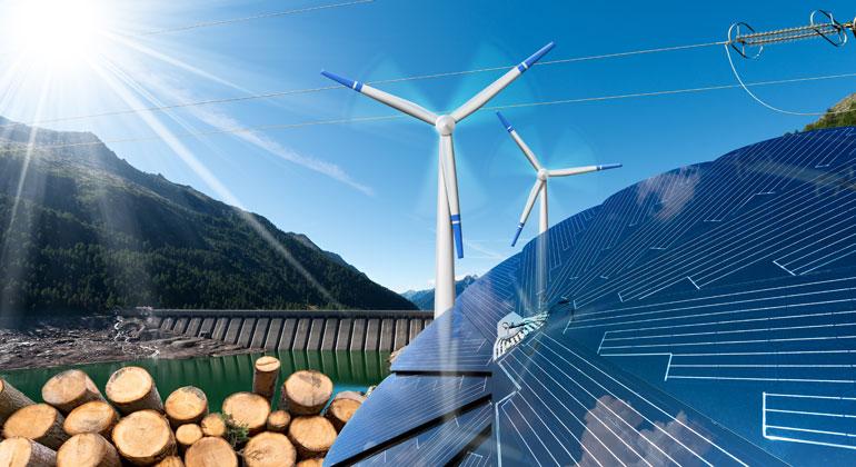 Depositphotos | catalby | Deutschland produzierte 2018 erstmals über 40% Ökostrom, im Jahr 2000 waren es noch fünf Prozent. So die Statistik des Freiburger Fraunhofer-Instituts ISE.
