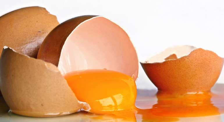 pixelio.de | birgitH | Eierschalen bestehen aus porösem Calciumcarbonat, das sich sehr gut für elektrochemische Speicher eignet.