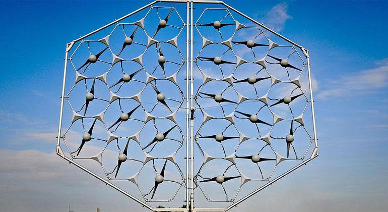 MOWEA | Zusammengeschaltete MOWEA-Windturbinen.