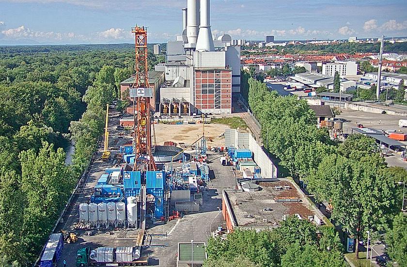 Stadtwerke München | Geothermie-Bohrung am Münchner Heizkraftwerk Süd.