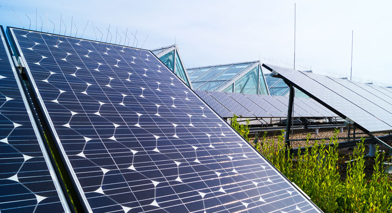 Martin Stallmann / Umweltbundesamt   Rekordwerte bei der Solarstrahlung sorgten 2018 für mehr Stromerzeugung aus erneuerbaren Energien.