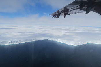 Northumbria University | Jan De Rydt | The edge of the Brunt Ice Shelf