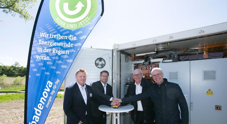 badenova.de   Inbetriebnahme Batteriespeicher von badenova am 14. Mai 2019