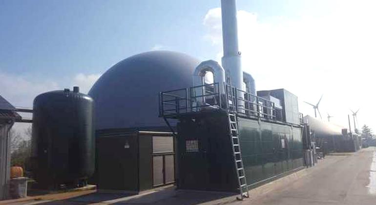 ALTEC ENERGIE | Der Windpark Dörpum und der Wärmespeicher der Biogasanlage