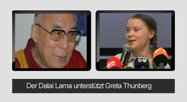Dalai Lama - Bigi Alt | Screenshot von Greta Thunberg