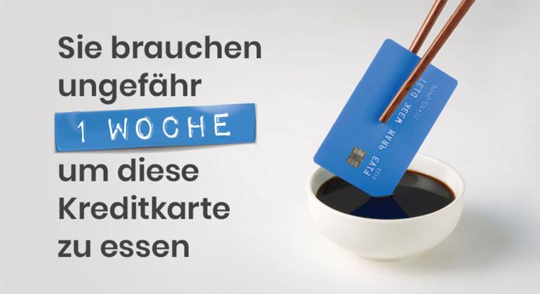 WWF | Sie essen ca. eine Kreditkarte pro Woche