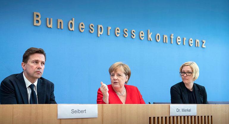 Bundesregierung/Bergmann | Kanzlerin Merkel beantwortet die Fragen der Hauptstadtpresse.