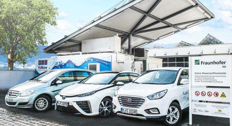 Fraunhofer ISE | Fahrzeuge mit Brennstoffzellentechnologie schnitten in einer Studie des Fraunhofer ISE bei höheren Reichweiten bei den Treibhausgas-Emissionen besser ab als Batteriefahrzeuge.