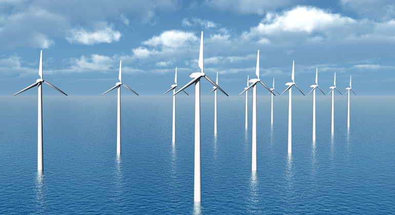 bigstock | MIRO3D | Symbolbild - Ausgehend von der aktuellen Leistung von Windkraftanlagen, müssten bis zu 15.000 Anlagen entstehen, um die angekündigten 180 Gigawatt Strom zu liefern.