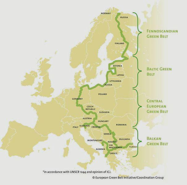 BUND Projektbüro Grünes Band   Von der Barentssee im Norden bis ans Schwarze Meer, bzw. die Adria im Süden: Das Grüne Band Europa erstreckt sich entlang des ehemaligen Eisernen Vorhangs.