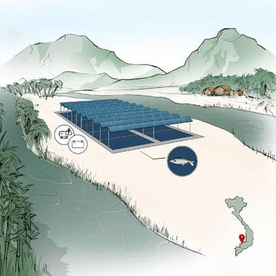 Fraunhofer ISE   Nicht nur Gemüse kann unter Photovoltaikmodulen gut wachsen. Auch Aqua-Kulturen könnten sinnvoll mit Photovoltaik kombiniert werden.