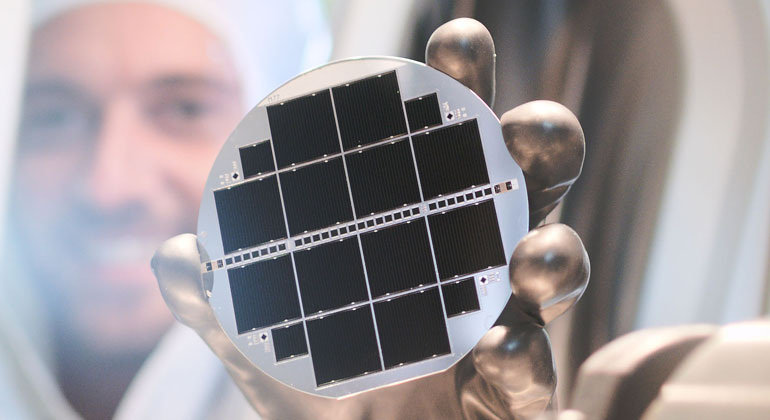 Fraunhofer ISE Sets Two Records for the Efficiency of Silicon-Based Monolithic Triple-Junction Solar Cells