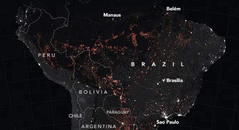Aufregung über die Tausenden von Waldbränden in Brasilien