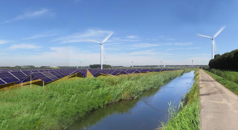 Vattenfall errichtet erstes Vollhybrid-Kraftwerk für erneuerbare Energien