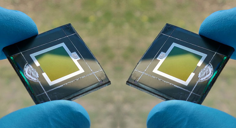 World record for tandem perovskite-CIGS solar cell