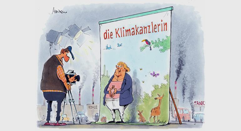 sfv.de | Gerhard Mester | Klimakanzlerin war gestern. Nein, eigentlich nie so richtig.