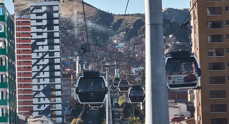 La Paz: Seilbahnen vermindern den Lärm und verbessern die Luft