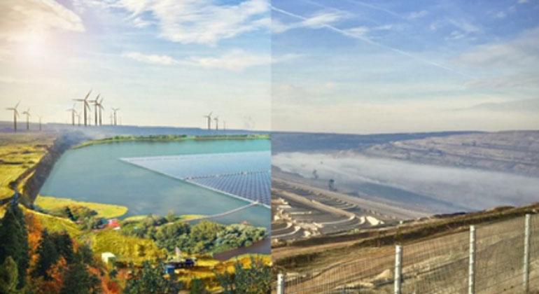 greenpeace-energy.de | Tagebau Hambach heute und als Zukunftsvision.