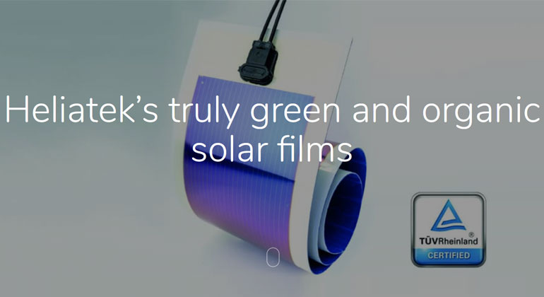 Heliatek's organic solar films – A truly green electricity generating technology