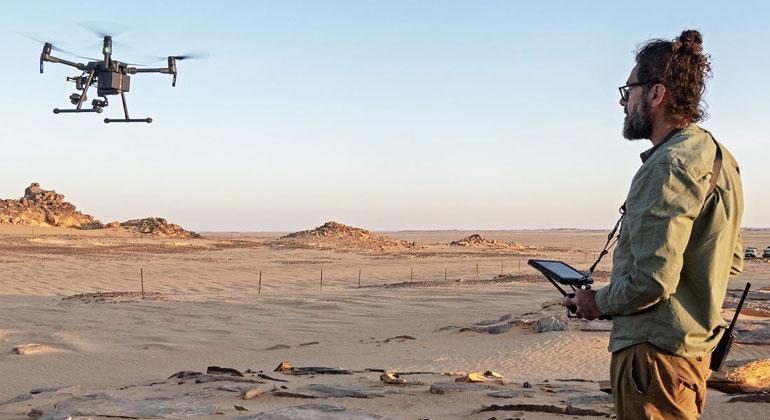 handicap-international.de | John Fardoulis / HI | Tests zum Einsatz von Drohnen bei Minenräumarbeiten