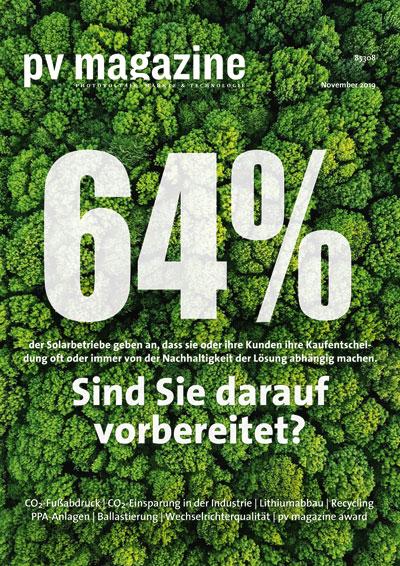 pv-magazine.de | pv magazine 04/2019 | Nachhaltigkeit ist kaufentscheidend! Sind Sie darauf vorbereitet?