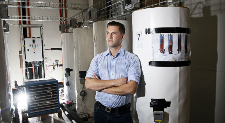 Energy for future heating systems can be stored in salt