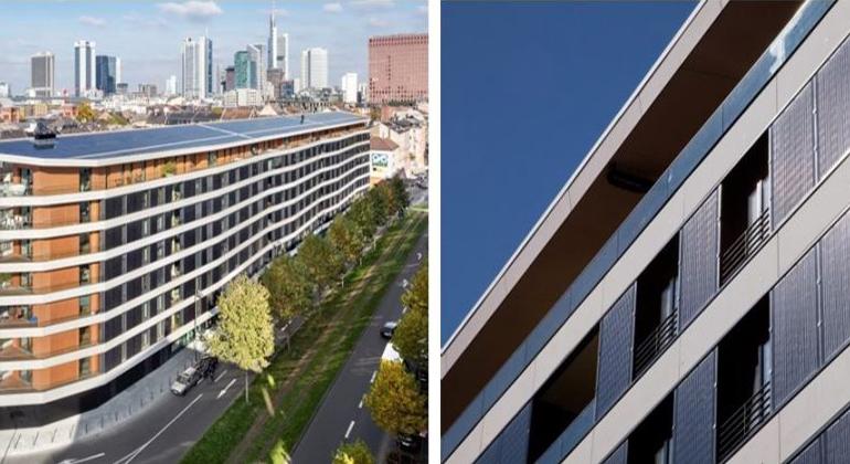 HHS Planer + Architekten AG, Kassel | Beispiel Aktiv-Stadthaus in Frankfurt a. M.: Eine Herausforderung sind die Übergänge von aktivierten Fassadenteilen zu Fenstern, Dach oder Gebäudebegrenzungen. Wie erhält man hier eine gestalterisch akzeptable Lösung?