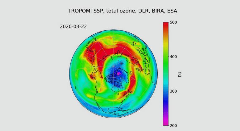 Ozonloch erstmals in der Arktis