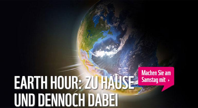 Earth Hour 2020: Trotz Corona ein Zeichen für unseren Planeten setzen