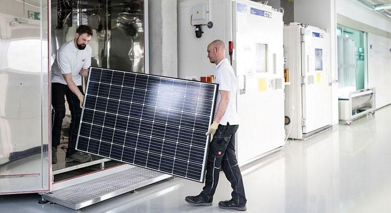 Extremtest für Solarmodule