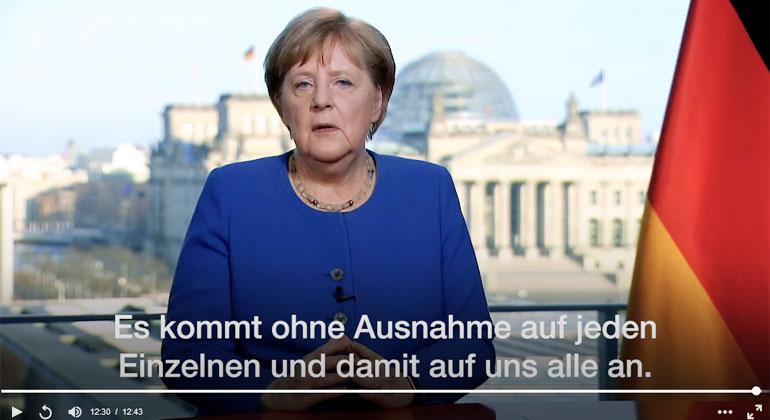 """Bundeskanzlerin Merkel: """"Es ist ernst"""""""