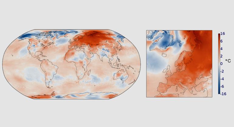 2020 Heise Medien | Anomalie der Oberflächenlufttemperatur für Februar 2020 im Vergleich zu 1981-2010