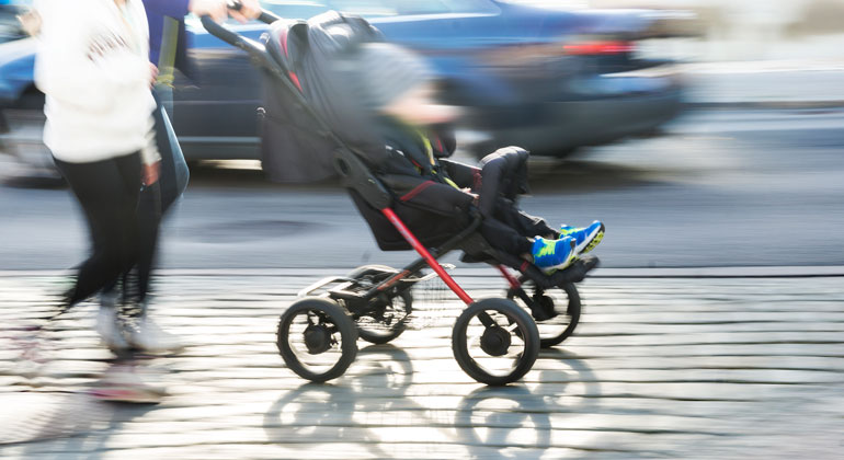 Babies in popular low-riding pushchairs are exposed to alarming levels of toxic air pollutants