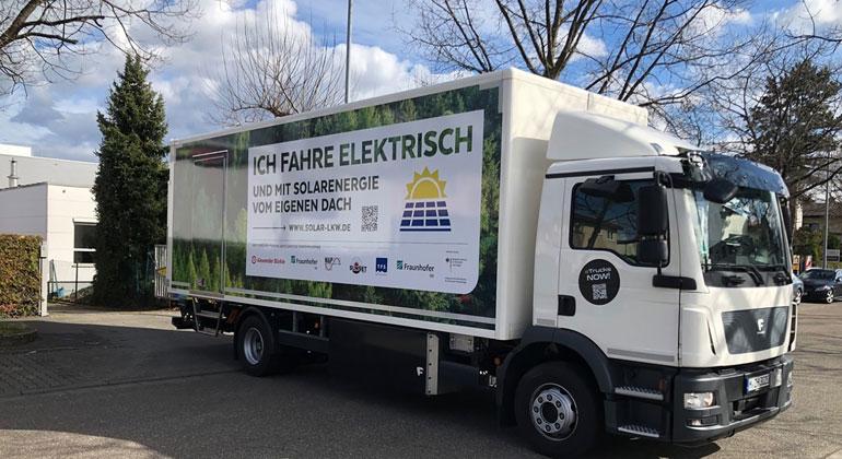 "Projekt ""Lade-PV"": Fahrzeugintegrierte PV für Elektro-Nutzfahrzeuge"
