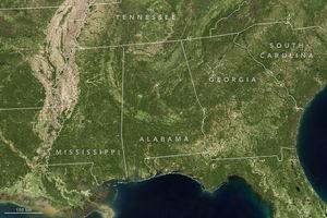 Nasa.gov | Detaillierte Landsat-Aufnahme des Südostens der USA