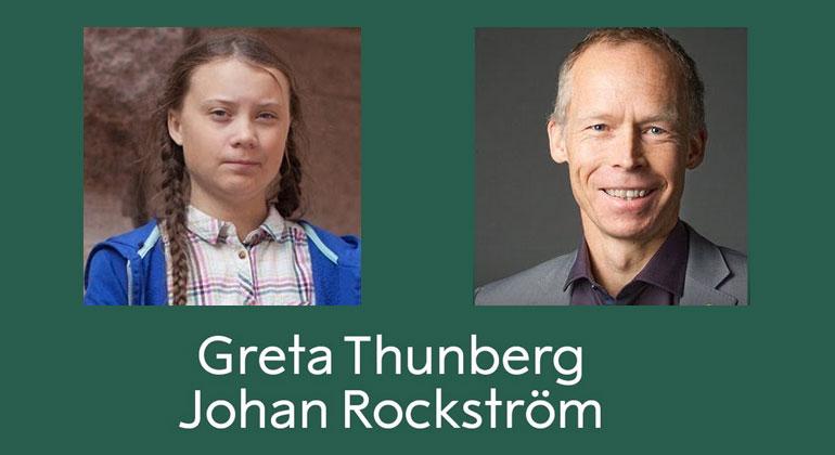 Live-Gespräch zwischen Greta Thunberg und Johan Rockström