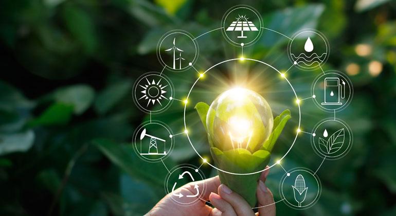 Erneuerbare Energien deckten im Jahr 2020 gut 46 Prozent des Stromverbrauchs