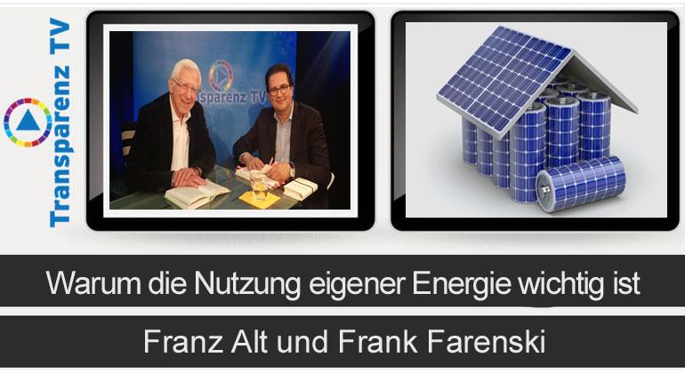 Franz Alt: Warum die Nutzung eigener Energie wichtig ist