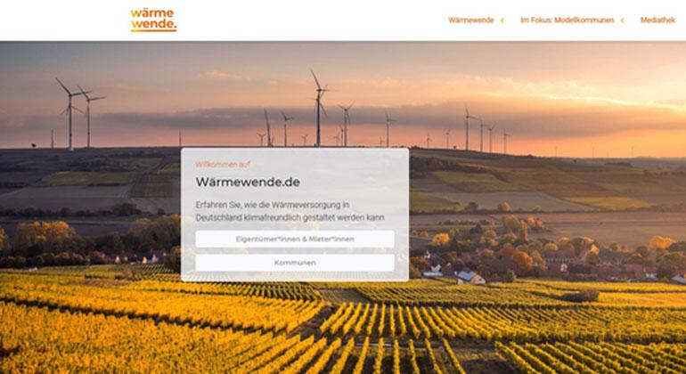 Neues Online-Portal bietet Informationen rund um die Wärmewende