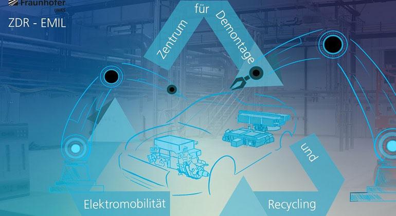 Fraunhofer IWKS baut Recycling-Zentrum für Elektromobilität auf