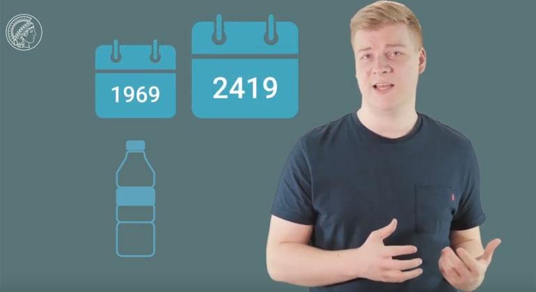 MaxPlanckSociety | Bis eine einfache Pet-Flasche vollständig zersetzt ist dauert es rund 450 Jahre.