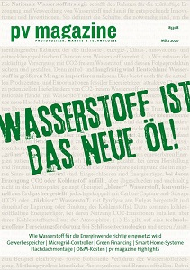 pv-magazine.de | pv magazine 01/2020 | Wasserstoff ist das neue Öl!