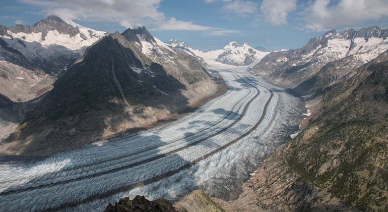 Glacial retreat in the European Alps