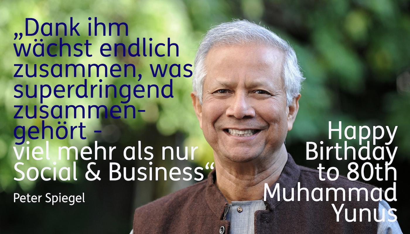 Der Visionär und Praktiker Muhammad Yunus wird 80