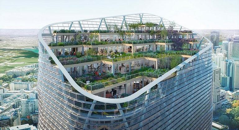 Wolkenkratzer aus Holz: Die Hängenden Gärten von Sydney