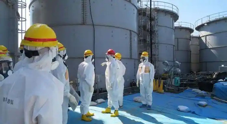 Tepco | Wassertanks im AKW Fukushima.